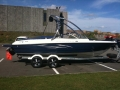 Custom Painted Platform with Stainless Pull Out Ladder and Surfgrip on Bayliner 205